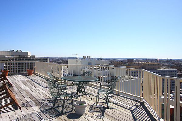Rooftop deck of the Westmoreland